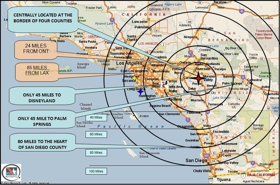 March Inland Port Public Airport KRIV - Maps